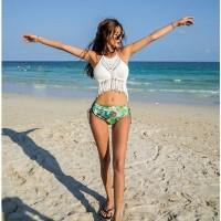 Bikini Rajut Wanita Baju Renang Seksi Swimsuit Tankini Murah Busa Bra