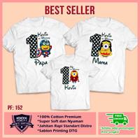 Baju Kaos Keluarga   Ultah   Couple   Kaos Motif Minion Bisa Custom