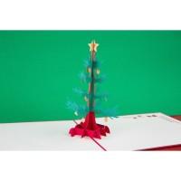 Branch of Christmas Tree - 3D Pop Up Gift Card Haiku Kartu Ucapan Nata