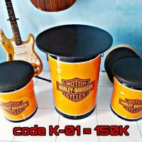 Kursi Tong Bandung Cimahi sofa bangku unik stool tin drum