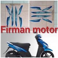striping stiker list body mio sporty 2010 warna biru
