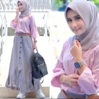 Baju Gamis Cikka Set / Fashion Remaja Muslim / Baju Setelan Wanita