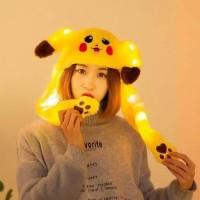 Best Seller Banny Hat Pikachu Led - Topi Pikachu Imut Best Seller