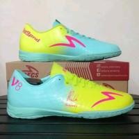 Sepatu futsal specs murah accelerator exocet v8 legend series gem blue