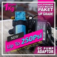 Water Heater Booster DC Pump 200Psi Up To 250Psi & Adaptor Hemat