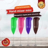 Hand Mixer Mini / Milk Frother / Pengocok Telur Minuman Elektrik Ori