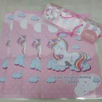plastik snack unicorn / kantong snack unicorn