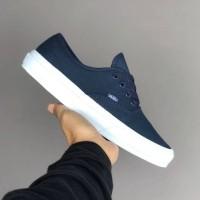 Sepatu Vans Authentic Mono Navy Dress Blue White BNIB Original Premium