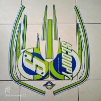stiker striping motor scoopy sporty 2015 biru-hijau