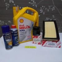 Paket oli mesin Shell HX6 10W-40 Avanza, Xenia dual VVT-I ada 5 item