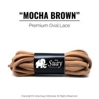 Tali Sepatu Bulat (OVAL) Premium Shoelace Mocha Brown Surabaya