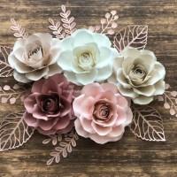 Paper Flower Backdrop (Roses series)