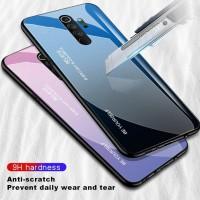 Gradient Glass Case Xiaomi Redmi Note 8 Pro Note8Pro Back Cover Casing