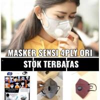 Masker Sensi 4 ply saringan katup Pm 2.5 micro