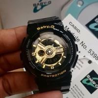 Jam Tangan Wanita Merk Casio Baby G BA-110 Black ORI BM FullSet