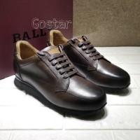 sepatu kerja Bally sneaker shoes kulit asli kualitas mirror casual lv