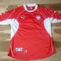 Jersey kaos baju bola puma tim nasional polandia home wc 2002 original