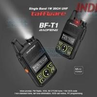 Taffware Walkie Talkie Single Band 1W 20CH UHF Baofeng BF T1 Mini