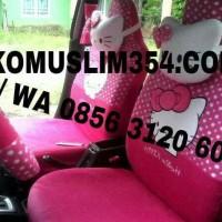 Sarung Jok Mobil khusus brio all size karakter hello kitty mickey