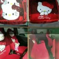 NEW ב i - Sarung Jok Mobil Hello Kitty Agya Ayla Karimun Jazz Yaris