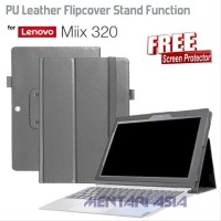 Flipcover Lenovo MIIX 320 - Lychee Grain PU Leather FREE SP Diskon