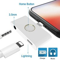 External Home Button for iPhone 7 8 plus X 3.5mm audio adapter for
