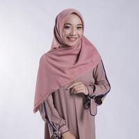 Hijab Segi Empat Zoya Kerudung Segi Empat Polos - Nov Scarf Warna Rose