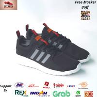 Sepatu ORIGINAL ADIDAS CLOUDFOAM Lite Racer Black White Indonesia