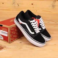Sepatu Vans Old Skool Pro Black White