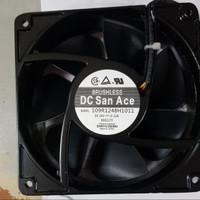 cooling fan 24v 24volt bearing brushless san ace jepang 12cm