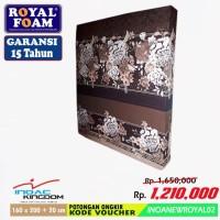 ROYAL KASUR BUSA size 160 x 200 + 20 cm - GARANSI 15 Tahun