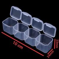 kotak cabinet penyimpanan obat harian travelling perhiasan anting baut