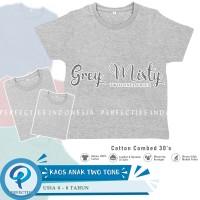 Kaos Polos Anak Lengan Pendek Twotone Series - Misty Grey