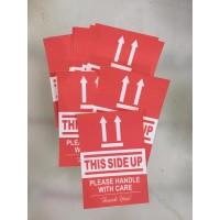 sticker this side up, stiker label posisi atas packing bahan HVS