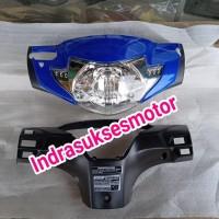 batok kepala depan belakang berikut lampu motor supra x 125 lama biru