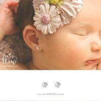 Littlethingshewear - ROUND SWAROVSKI 0,5GR Anting Toge Anak