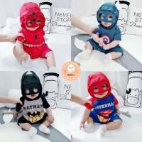 [MMP124] Romper Jumper Bayi Topeng Superhero 3D Batman Spiderman