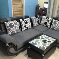 sofa sudut L murah bisa pesan warna