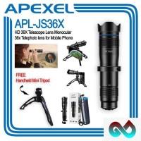 APEXEL APL-JS36X HD 36x Lensa Telephoto Monocular for Smartphone