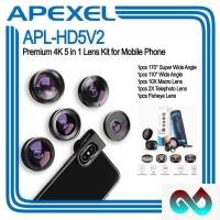 APEXEL APL-HD5V2 Premium HD 4K 5 in 1 Lensa Kit for Smartphone