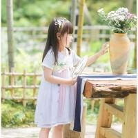 Best Seller Hanbok Hanfu Baju Adat China Anak Baju Dinasti Tang White
