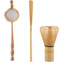 Natural Bamboo Strainer Matcha Brush Green Powder Whisk Scoop Tea