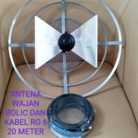 Antena TV wajan bolic uhf - led,lcd,tabung - plus kabel rg6 20m