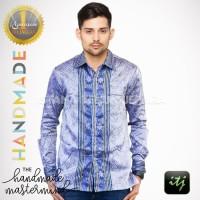 Kemeja Batik Pria Lengan Panjang | Baju Kain Tenun Baron Spesial Mewah