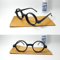 kacamata bulat frame plastik paket lensa anti uv