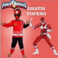 Kostum baju anak power rangers samurai merah