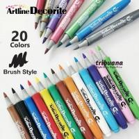 Artline Decorite Style Brush EDF-F - Spidol Dekorasi Bentuk Brush
