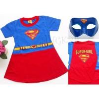 Kostum baju dress anak perempuan supergirl supermangirl