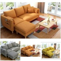 Sofa L minimalis  sofa 3 dudikan+puff