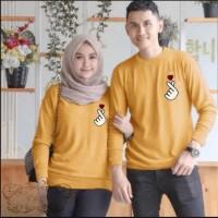 Couple sarangheo mustard baju remaja pasangan kaos couple sad per vt